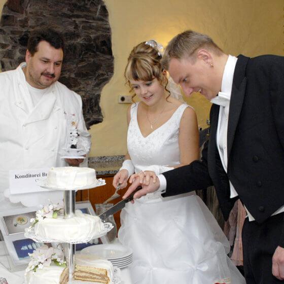 Anschnitt-Torte - Schlosshotel Chemnitz