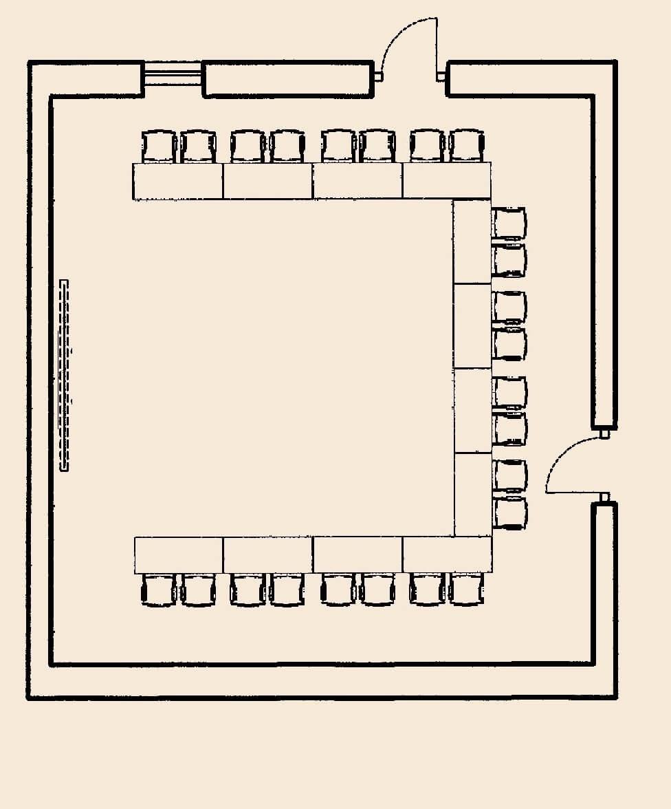 Salon von Taube - U-Form