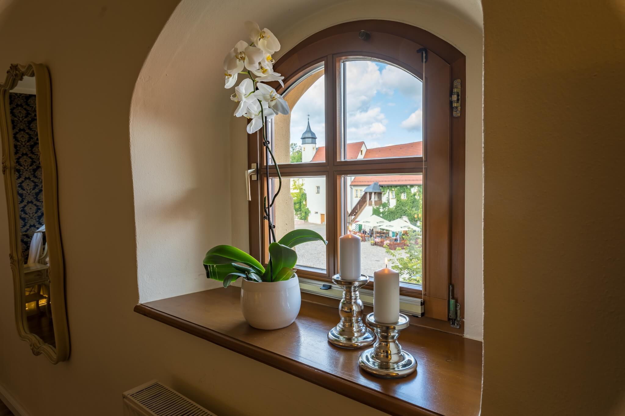 Rokoko-Suite - mit Blick zum Innenhof